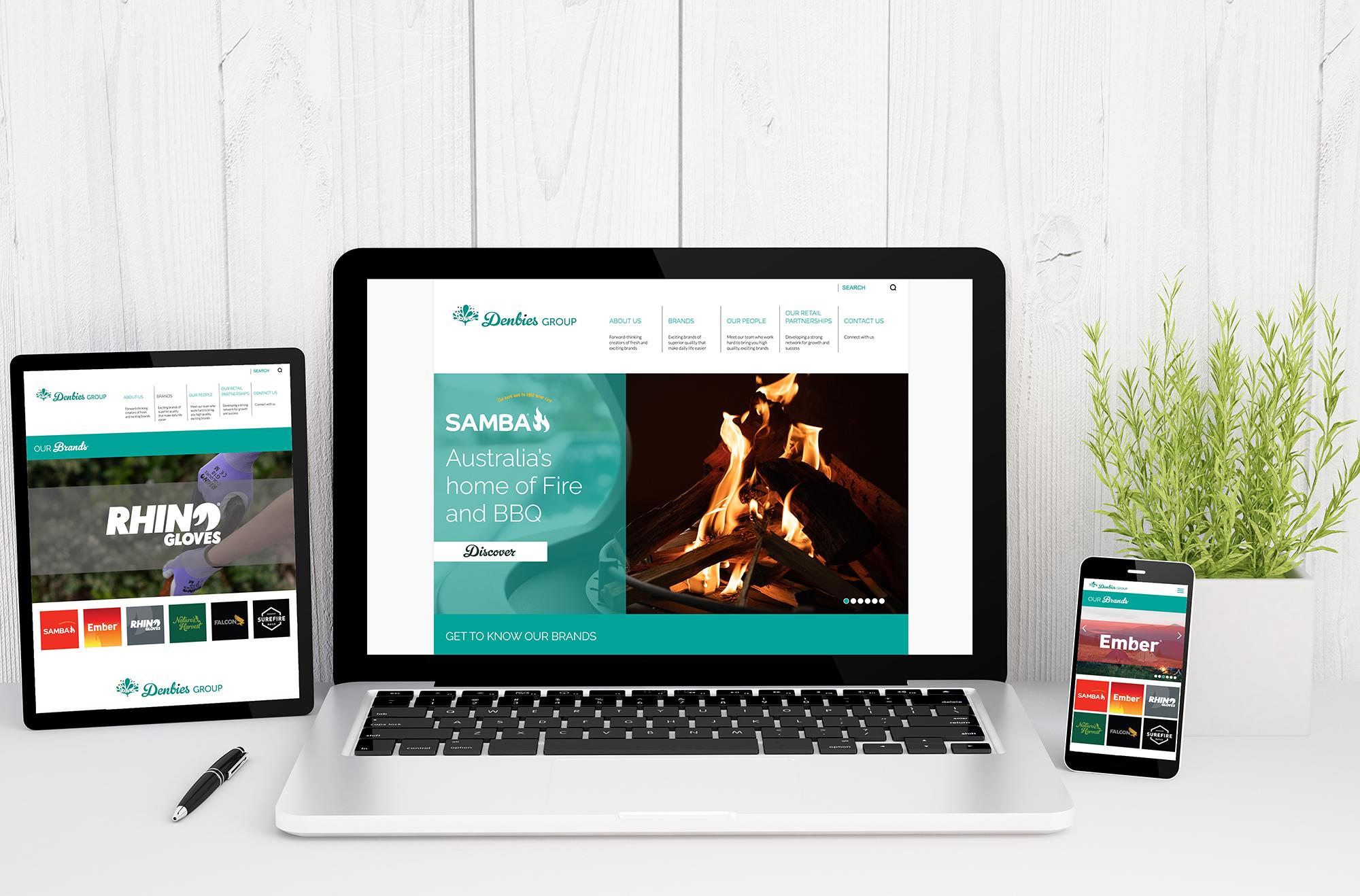 Denbies Website Design