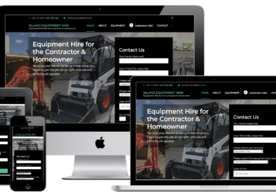 Island Equipment Hire Website Design