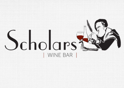 Scholars Wine Bar Logo Design