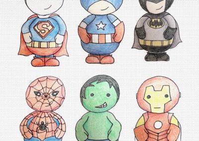 Superhero Illustrations